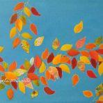 AUTUMN VINE 2, 60wx30x4cm, acrylic paint, paper, card, canvas and glitter glue on canvas, $175+P&H