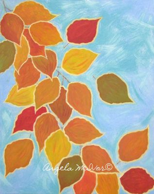AUTUMN VINE, 40wx50x4cm, acrylic on canvas, $100+P&H