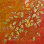 AUTUMN BOULEVARD, 40wx50x2cm,acrylic and paper and glitter on canvas, $75+p&h