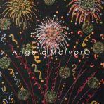 FIREWORKS 3, using glitter, 27.5wx35x2cm, $65+p&h