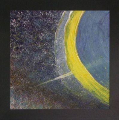 light ray,black frame,acrylic on canvas, 42x42cm, $150+p&h