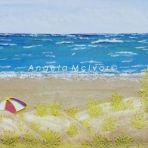 SUMMER AT SEASPRAY, 60wx50x4cm, acrylic, sand, felt, on canvas, $250 + P and H