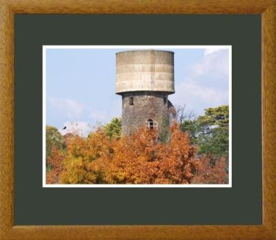 water tower, victoria gardens, sale, framed print,40wx35cm, $90+p&h