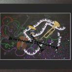 I GOT RHYTHM, framed PRINT, 64wx48cm, $150+P&H