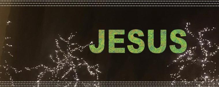 Jesus Green on Black