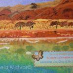 THE DEAD SEA,40wx30x4cm,acrylic,card,ribbon,on canvas,$50+P&H